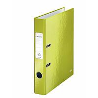 Папки-регистраторы А4 180° 50 мм Leitz Wow зеленый металлик 10060064
