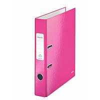 Папки-регистраторы А4 180° 50 мм Leitz Wow розовый металлик 10060023