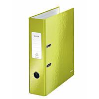 Папки-регистраторы А4 180° 80 мм Leitz Wow зеленый металлик 10050064