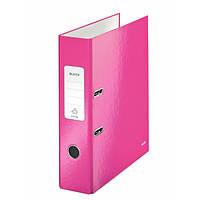 Папки-регистраторы А4 180° 80 мм Leitz Wow розовый металлик 10050023
