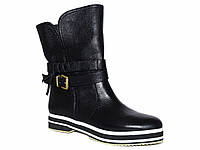 Зимние женские кожаные ботинки низкий ход Tucino №134-2177