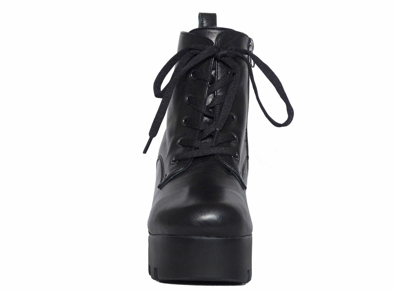 ... Кожаные зимние женские ботинки на платформе Donna Ricco №02-37, ... eced5b2bc79