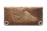 Кожаный кошелек Alligator Khaki