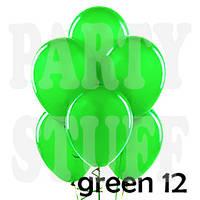 Воздушные шарики Gemar А50 пастель Зеленый, 5' (13 см) 100 шт