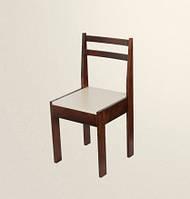 Стул обеденный с жестким сиденьем, стул кухонный стулья, натуральное дерево (С3)
