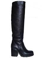 Женские зимние кожаные сапоги на каблуке Tucino №134-G-27