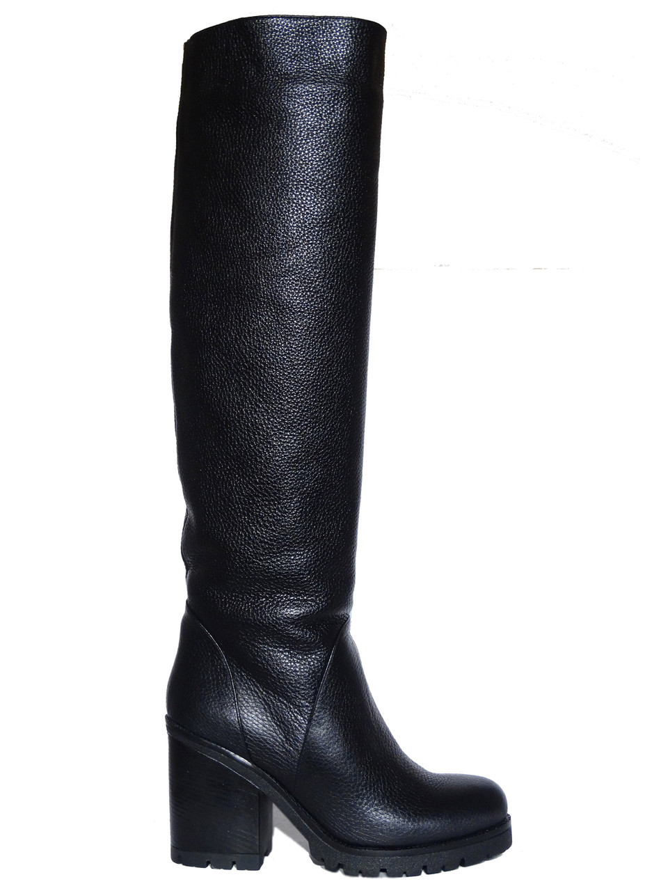 d9a33a88b172 Женские зимние кожаные сапоги на каблуке Tucino №134-G-27