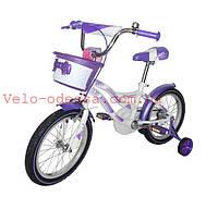 Детский двухколесный велосипед Kiddy 16дюймов Кроссер  Азимут