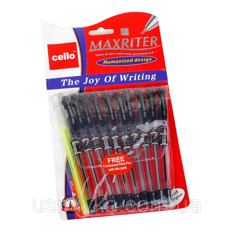 Ручка шариковая на масляной основе, 0,5 mm CELLO Maxriter (10 шт\уп.+1 в подарок) KP10270014