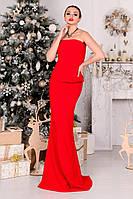 Вечернее красное платье в пол Тария  Modus  44-48 размеры