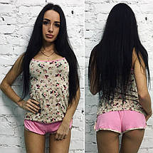 """Женский комплект-пижама из вискозы """"Бренда"""" с цветочным принтом (2 цвета), фото 3"""