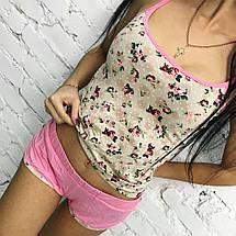 """Женский комплект-пижама из вискозы """"Бренда"""" с цветочным принтом (2 цвета), фото 2"""