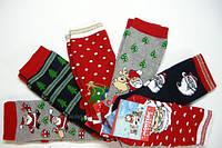 Новогодние носки женские мужские детские  зимние махровые внутри, фото 1