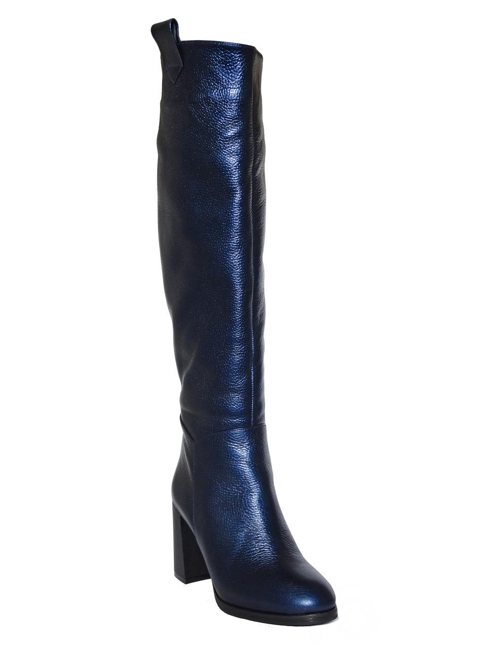 9d491028efba Женские кожаные зимние сапоги на каблук (синие) Paoletti №1332: продажа,  цена в Одессе. ...