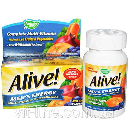 Nature's Way, Alive!, Полівітамінний комлпекс для чоловіків мультиминералы, 50 таблеток, фото 2