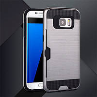 Чехол с слотом для Samsung Galaxy S6 серый, фото 1