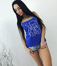 """Милый женский комплект-пижама """"Молли"""" с принтом (4 цвета), фото 3"""