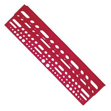 Полка с отверстиями под инструмент пластиковая INTERTOOL BX-0001