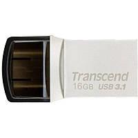 USB флеш накопитель Transcend 16GB JetFlash 890S Silver USB 3.1 (TS16GJF890S)