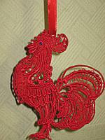 Петух красный символ 2017 года, елочная игрушка, украшение, сувенир