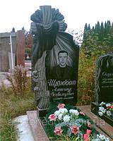 Элитные памятники из гранита фото с крестом и полотенцем (№301)