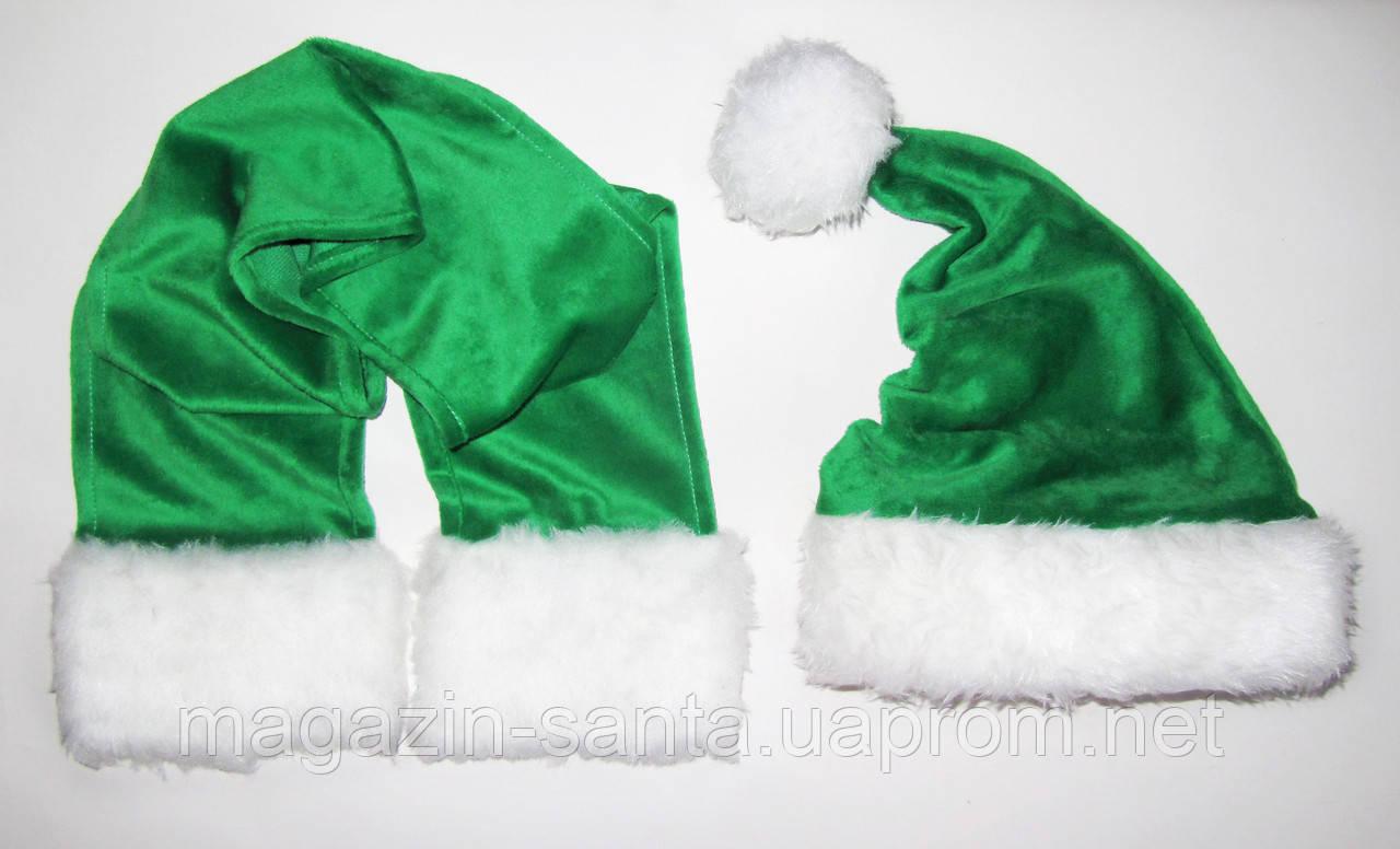 Новорічний комплект для дорослих Діда Мороза Ковпак Санта Клауса Santa Claus і шарф