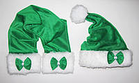 Новогодний комплект для взрослых Деда Мороза Колпак Санта Клауса Santa Claus  и Шарф, фото 1