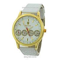 Бюджетные часы Ferrari Maranello Quartz White-Gold-White