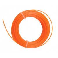 Леска для триммера круг,1.3ммх15м, оранжевый