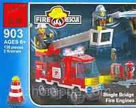 Пожарная тревога Конструктор лего. Легики. Brick 903 в наборе 130 деталей Интересные игрушки для малыша