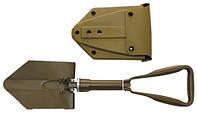 Складная сапёрная лопата с пластиковым чехлом MFH TSR Coyote Tan 27038