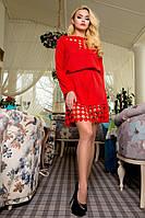 Короткое женское красное платье 71180  Modus  44-48 размеры