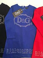 Черное платье DG c стразами