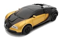 Машинка робот-трансформер на радиоуправлении Autobots Bugatti, машинка-робот, золотой