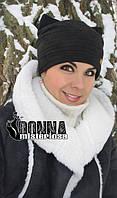Шапочка з вушками з замшу, розділ http://donna-misteriosa.com/g14700455-shapki-bereti