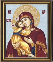 Набор для вышивания крестом Владимирская икона Божьей Матери