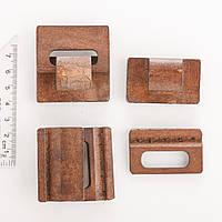 Фурнитура Застежка деревянная для браслетов Hand Made коричневый за шт р-р 1 детали 4,8х4,5 см