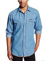 Джинсовая рубашка Wrangler Men's Authentic Cowboy Cut Work Western Long-Sleeve Shirt