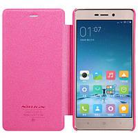Обложка фирменная Nillkin Sparkle для Xiaomi Redmi 3 Pro розовая