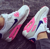 "Кроссовки Nike Air Max 90 ""White/Blue/Rose/Grey Tape"" женские"