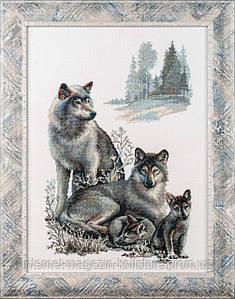 Набор для вышивания крестом Волки