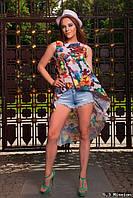 Красивая туника с цветочным принтом  , размера 42, 44, 46, 48.