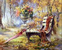 Алмазная мозаика полная выкладка Цветы и зонтик