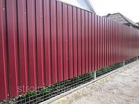 Вентилируемый забор из профнастила