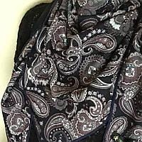 Хустка шарф женская теплая, шикарный узор, бархатная , новинка 2017