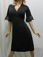 """Женский халат большого размера 50-56 средней длинны, """"Горячее сердце"""""""