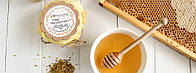 Мед в подарунковій упаковці Мед акацієвий з пилком 500 грамів