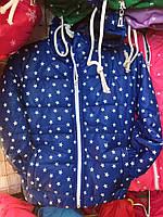 Детская куртка ветровка Звездочка для девочки оптом 3-7 лет электрик