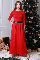 Красное молодежное платье в пол