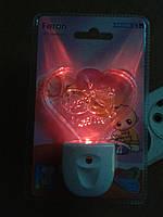 Светодиодный ночник сердце с сенсором Feron FN1105